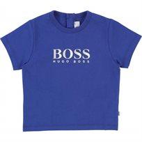 BOOS חולצה (9-6חודשים)  טישרט כחול סמל באמצע
