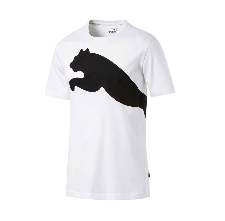חולצת טי לוגו גדול דגם L85407902 לגברים - לבן