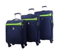 סט מזוודות 3 גדלים דגם מלבורן  - צבע לבחירה