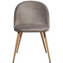 סט של 4 כיסא לפינת אוכל קטיפה Scandi - אפור - משלוח חינם