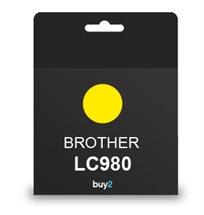 להדפיס בצבע! ראש דיו תואם BROTHER LC980 צבע צהוב, דיו איכותי למדפסת