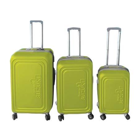 סט 3 מזוודות קשיחות Toledo - ירוק