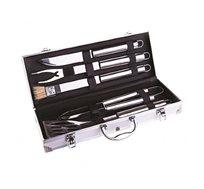 סט 5 כלים נירוסטה מלאה במזוודת אלומיניום לגריל CAMPTOWN
