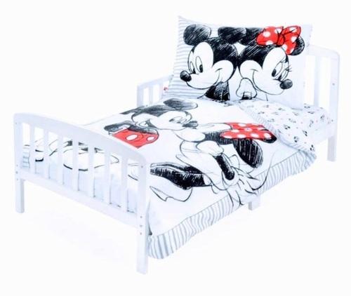 סט מצעים 3 חלקים למיטת תינוק/מעבר (דגם חדש) - מיני ומיקי מאוס