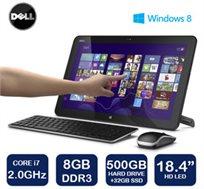 """אספקה מהירה עד 72 שעות! מחשב """"18.4 AIO מבית DELL דק וקל עם מעבד i7, זיכרון 8GB ודיסק 500GB+32GB SSD"""