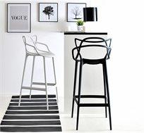 כיסא בר מודרני מפלסטיק קשיח וחזק במגוון צבעים לבחירה - משלוח חינם