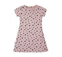 שמלת שרוול קצר BABY ROCK עם הדפס כוכבים בצבע ורוד