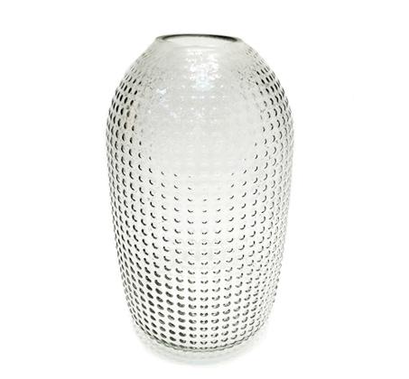 אגרטל זכוכית מעוצב גריי