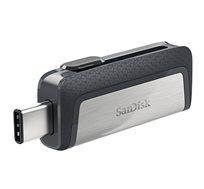 זיכרון נייד Ultra Dual Drive USB Type- C SanDisk בנפח 32GB דואלי לחיבור לסמארטפון/טאבלט