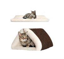 מיטה נפתחת לחתולים בצורת מנהרה או מזרון