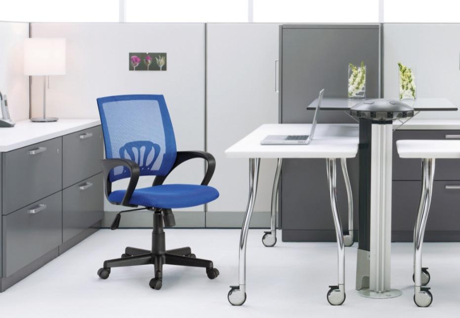 כיסא משרדי עשוי בד נושם עם מבנה ארגונומי המקנה תמיכה לכל הגוף לישיבה ממושכת - תמונה 8