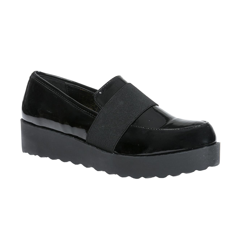 נעלי אלגנט ללא שרוך לנשים - שחור מבריק