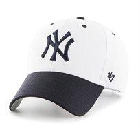 כובע NY YANKEES - לבן מצחייה נייבי