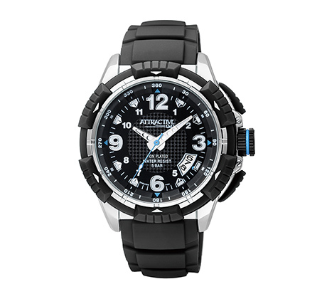 שעון יד לגבר בעיצוב ספורטיבי מסדרת ATRACTIVE מבית Q&Q