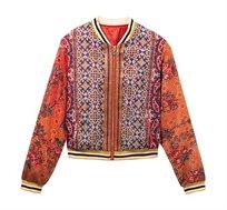 ג'קט Desigual בסגנון בוהו אתני לנשים דגם RIBE בצבע כתום