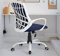 כיסא מנהלים דגם יאנג בריפוד קטיפה כחולה HOMAX