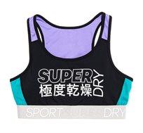 חזיית ספורט Super לנשים - שחור סגול