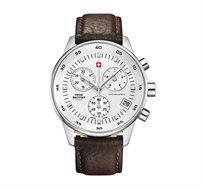 שעון יד כרונוגרף שוויצרי לגבר SWISS MILITARY עשוי פלדת אל חלד ועמיד במים עד 50M