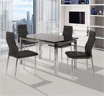 פינת אוכל כוללת שולחן + 4 כיסאות דגם TB17-9 מבית SIRS