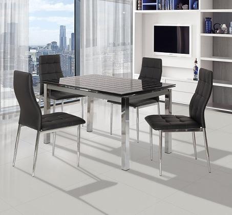 פינת אוכל הכוללת שולחן מעוצב בקו איטלקי עדין + 4 כיסאות אוכל בעיצוב תואם מבית SIRS  - תמונה 2