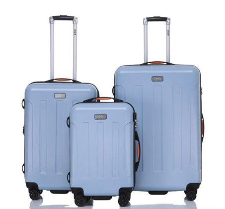 סט מזוודות 3 גדלים דגם מיאמי - צבע לבחירה + כרית צוואר מתנה