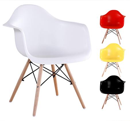כיסא בעיצוב מודרני לפינת אוכל ולמשרד בעלי רגלי עץ דגם דקוטה במגוון צבעים לבחירה  - תמונה 6