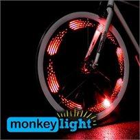 """הלהיט החדש מארה""""ב! מאנקי לייט - 10 נוריות LED צבעוניות לאופניים העמידות למים ובכל מזג האוויר  - משלוח חינם!"""