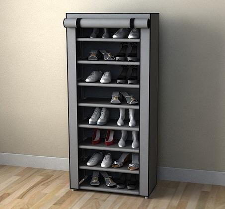 ארונית אחסון לנעליים סגורה עם 8 מדפי אחסון וכיסוי מעוצב ונשלף במגוון הדפסים לבחירה - משלוח חינם - תמונה 4