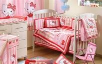 סט מצעים 3 חלקים למיטת תינוק הלו קיטי תחרה