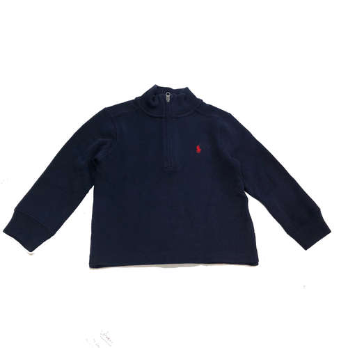 Ralph Lauren  / ראלף לורן סריג רוכסן קצר (9 חודשים- 7 שנים)- כחול כהה