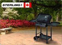 צלוי כראוי! גריל גז מקצועי ואיכותי של STERLING תוצרת קנדה, עם מבער 30,000 BTU ומשטח צלייה ענק