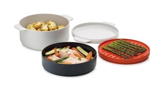 סט 4 חלקים לבישול ארוחה שלמה במיקרוגל
