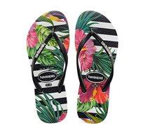 כפכפי נשים וילדות HAVAIANAS Slim Tropical Floral בשני הדפסים לבחירה