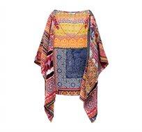 חולצת אוברסייז בסגנון בוהו Liberia לנשים - צבעוני