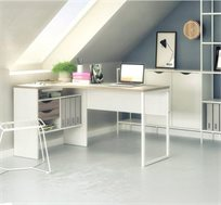 שולחן כתיבה פינתי עם מגירות ותא אחסון דגם גוליה