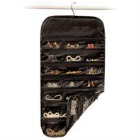 מטופחת ואלגנטית! ארגונית תלייה לתכשיטים, בעלת 80 כיסים לארגון ואחסון תכשיטים, אביזרים ועוד...