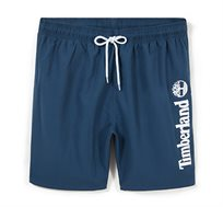 שורט בגד ים עם חגורת גומי Timberland לגברים בצבע כחול