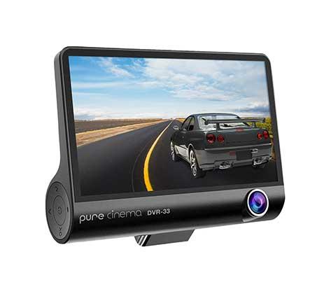 """מצלמת דרך לרכב רכב עם מסך """"4 וחיישן G איכות צילום 1080P צילום רחב 170° וסוללה נטענת דגם DVR-33"""
