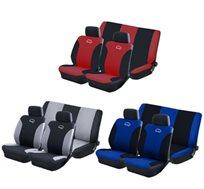 סט כיסויים לרכב 6 חלקים הכולל 2 ריפודים למושבים קדמיים+2 ריפודים למושב האחורי+2 כיסויים לכריות ראש