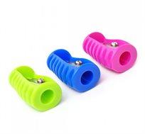 6 מחדד פלסטיק בצבעים שונים