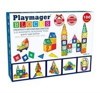 משחק מגנטים Playmager - הרכבה בתלת מימד, 100 חלקים לפיתוח הדמיון, יצירתיות, חשיבה מרחבית ועוד