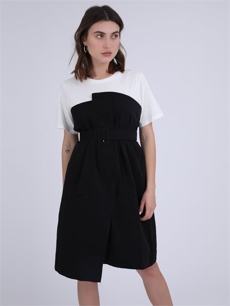 שמלת טישרט מקסין שחור סטייל ריבר