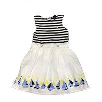 NAUTICA /  שמלה(5 שנים)- לבן כחול סירות