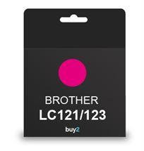 על איכות לא מתפשרים! ראש דיו תואם BROTHER LC121/123 צבע אדום, דיו איכותי למדפסת