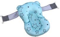 צף-קל - כרית אמבטיה לתינוק רצועות אבטחה - כחול כוכבים