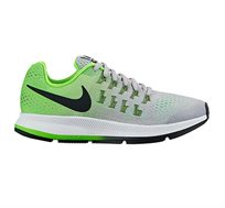 נעלי ריצה מקצועיות לנשים ונערות NIKE RUNNING SHOES AIR ZOOM PEGASUS 33 834316-0 בצבעי אפור/ירוק