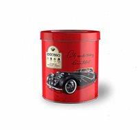 מארזי פח וינטג' עגולים של 50 קפסולות קפה תואמות  +זוג כוסות אספרסו וסט שבלונות במתנה