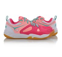 נעלי אינדור לנשים Li Ning Light Badminton Training Shoes בצבע ורוד