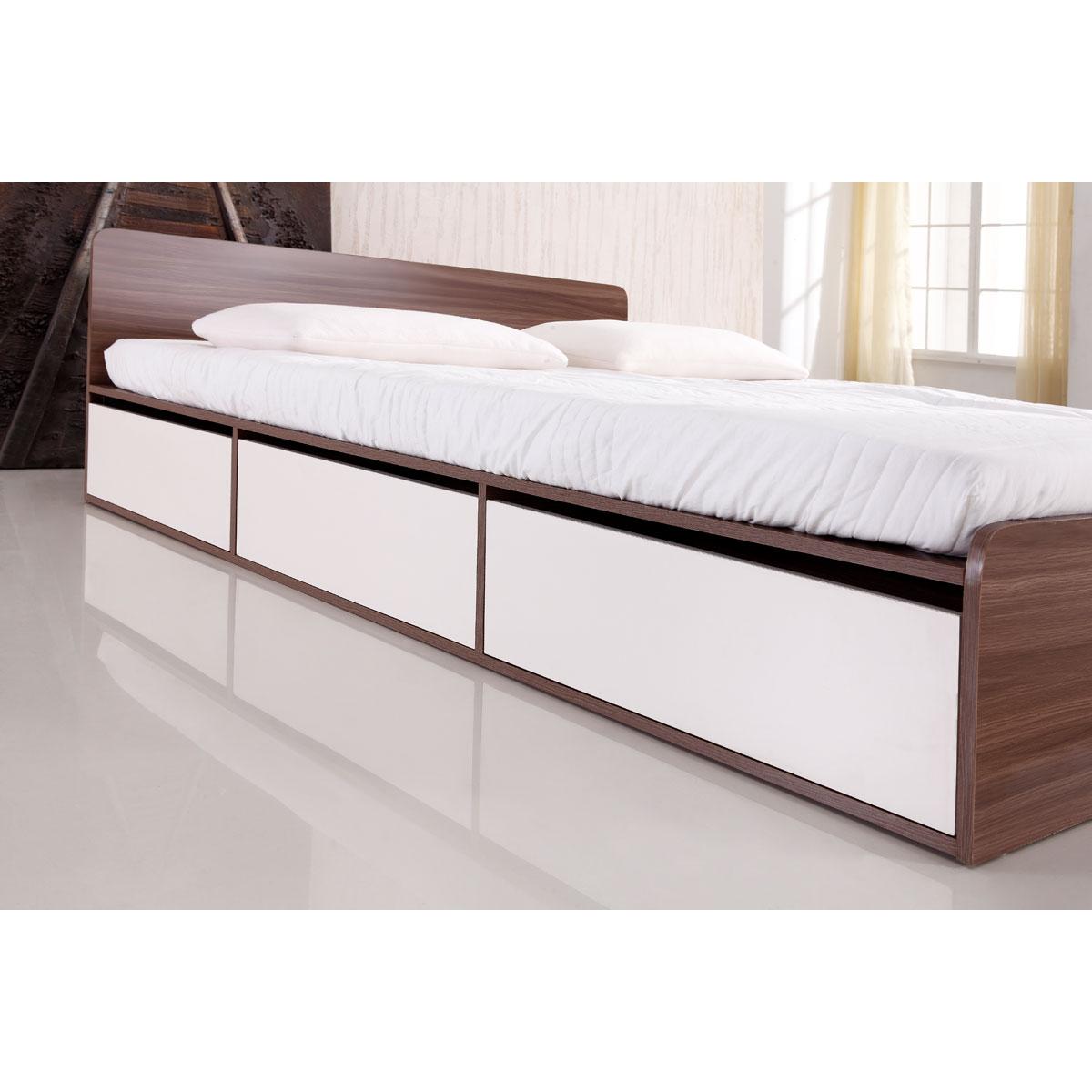 """למעלה מיטה זוגית למזרן 140X190 ס""""מ BRADEX עם ארגז מצעים ומגירות דגם NOLTE QF-92"""