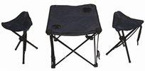 פינוק בשטח! שולחן פיקניק ו-2 כסאות מתקפלים ניידים מבית CAMPTOWN, כולל תיק נשיאה, רק ₪79!
